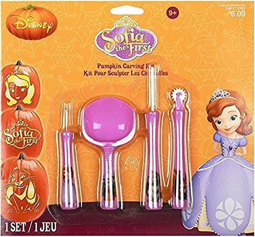 Sofia the First By Disney Pumpkin Carving Kit Includes 4 Tools and 7 Patterns! by Gemmy ()