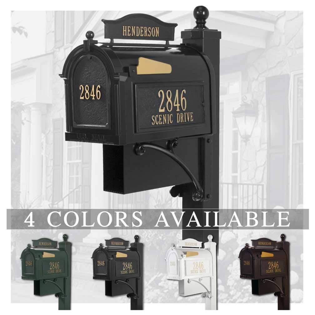 Personalized Whitehall The Ultimate Mailbox & Post Package (4 Colors Available)