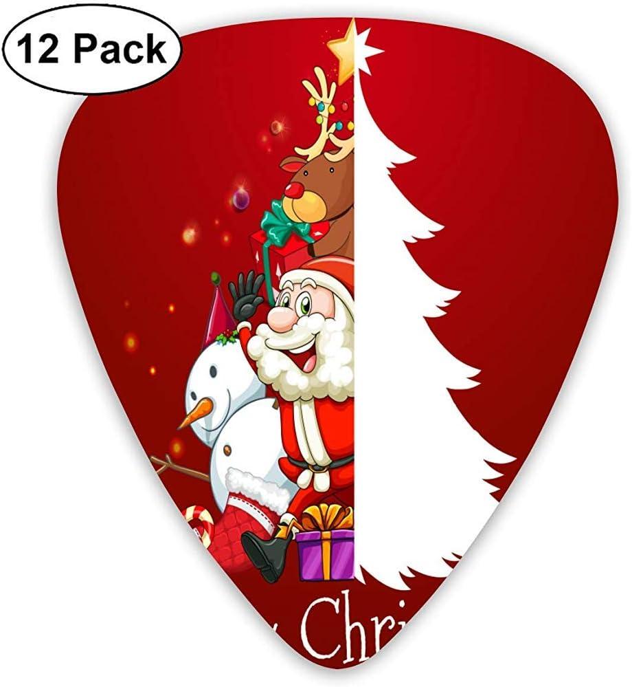 Plectrums Para Guitarra,Feliz Navidad Gracioso Lindo Bajo Ukelele ...
