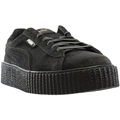 PUMA Mens Fenty by Rihanna RiRi Gray Creeper Velvet 36463903 Sneakers Shoes  11 23ac17c8d