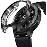 Galaxy Gear S3 Classic Galaxy Watch 46mm ケース 耐衝撃 クリア TPU Galaxy Watch 46mm 専用設計 Galaxy Gear S3 Frontier 対応 (ブラック)