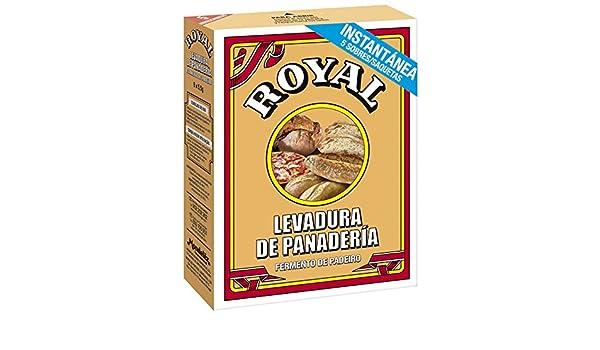 Royal - Levadura En Polvo, 5 sobres, 27.5 g - [pack de 4]: Amazon ...