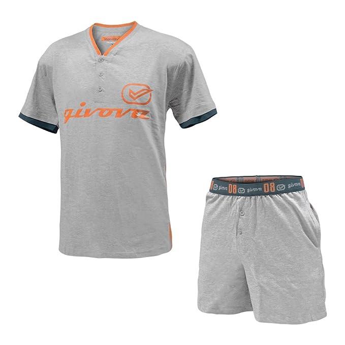negozio online d107c bcecf givova Pigiama Completo Homewear Cotone Manica Corta e Pantaloncino Art.G665