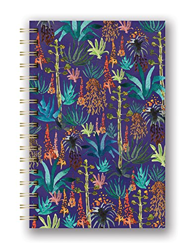 Studio Oh! Hardcover Spiral Notebook Available in 9 Different Designs, Justina Blakeney Agave - Executive Collection Calendar