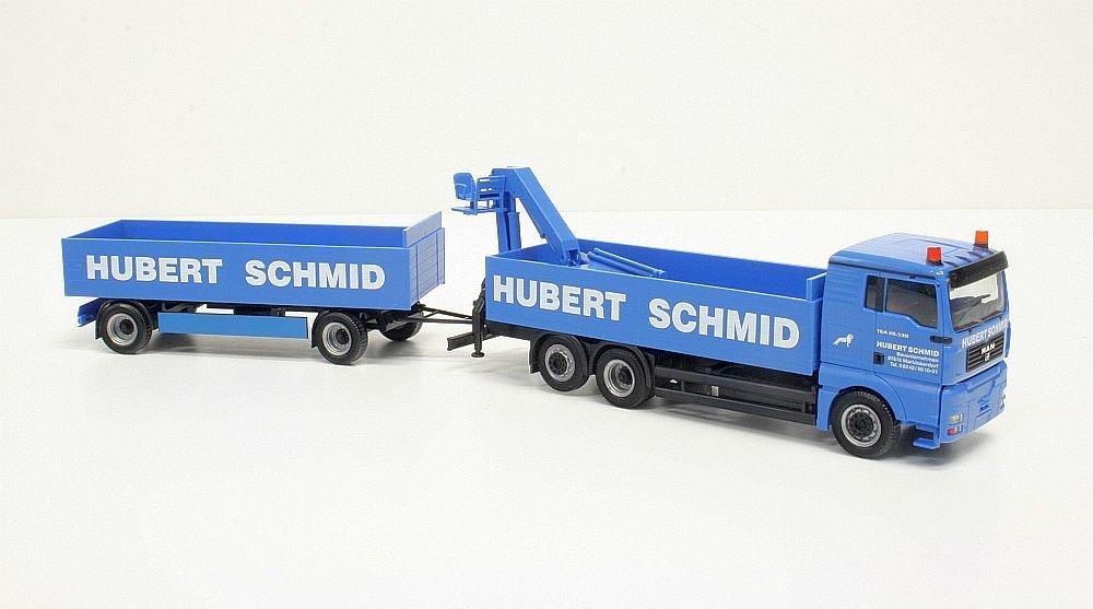 Herpa extra 907989 MAN TGA L Bustoff-Hängerzug  Schmid