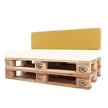 Arketicom Pallet One CHEOPE - Respaldo Cojin Sofa en Palet tejido OUTDOOR Impermeable y Desenfundable - interior Espuma de Poliuretano ...