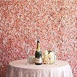 BalsaCircle 4 Blush Silk Hydrangea Flower Mat Wall Backdrop Photography Panel - Wedding Party Centerpieces Arrangements Bouquets