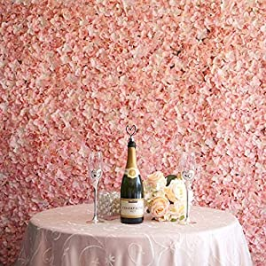 BalsaCircle 4 Artificial Hydrangea Flower Mat Wall Photography Backdrops Panels - Wall Decor Wedding Party Decorations Supplies 13