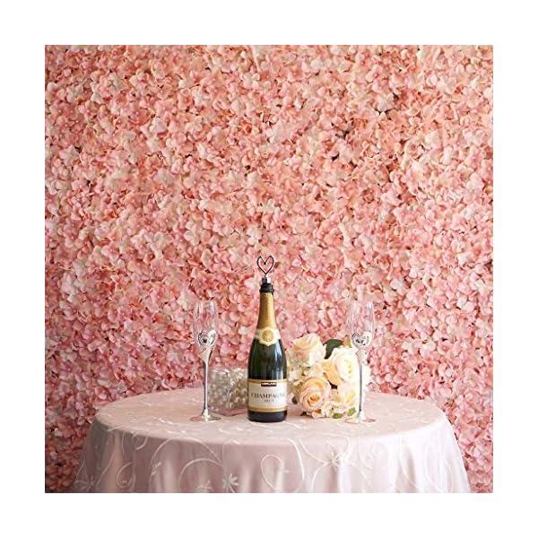 BalsaCircle 4 Blush Artificial Hydrangea Flower Mat Wall Photography Backdrops Panels – Wall Decor Wedding Party Decorations Supplies