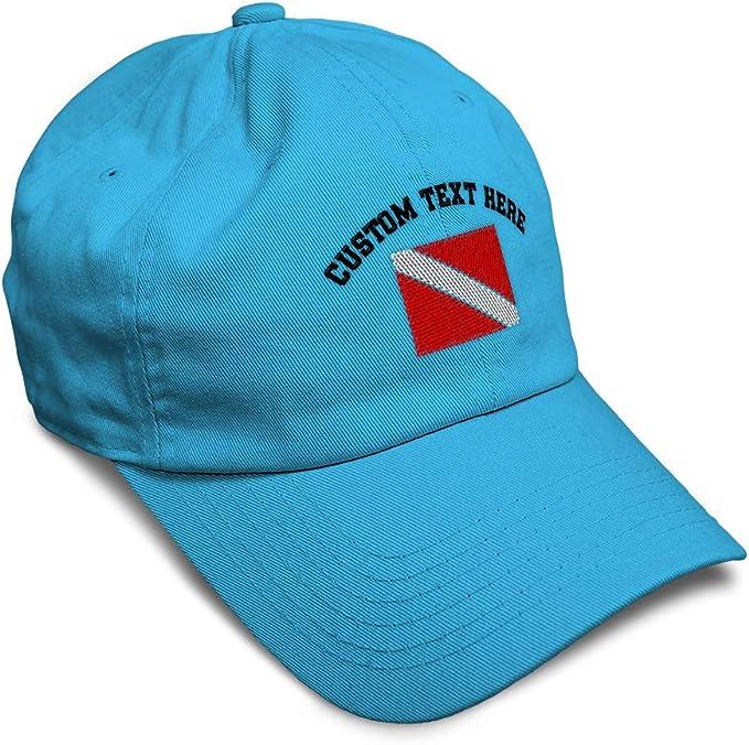 High-Profile Snapback Hat Scuba Diver Trucker Hat I Go Down Just Saying Funny Scuba Diving Twill Cap