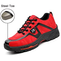Safety Shoes, Steel Toe Cap Trainers Lightweight Mens Womens Safety Shoes Work Midsole Protection,43/EU