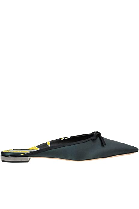 best sneakers d3a6a 06697 Rochas Ballerine Donna MCGLCAB000005021E Tessuto Verde ...