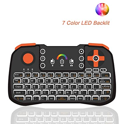 29f153b34e3 Amazon.com: Mini Wireless Keyboard, Tripsky TZ10 Mini Keyboard, Handheld  Remote with Touchpad Mouse for Android TV Box, HTPC, IPTV, Android OS (Black):  ...