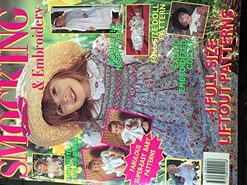 AUSTRALIAN SMOCKING & EMBROIDERY Magazine Spring 1993 Issue No. 26 (Child's dress, super-easy baby patterns, romantic nightware, full-size doll pattern, exotic embroidered collar)