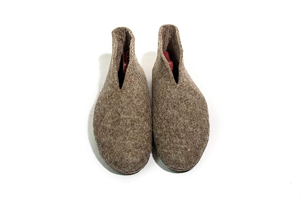 Women Wool Slippers Natural Warm and Cozy Felt House /& Bedroom Booties size 11