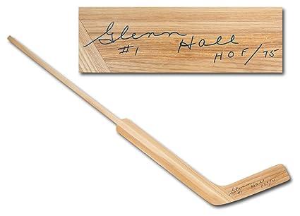 Glenn Hall Autographed Signature Retro Wooden Goalie Stick - Chicago  Blackhawks - COA Included 19de8984b