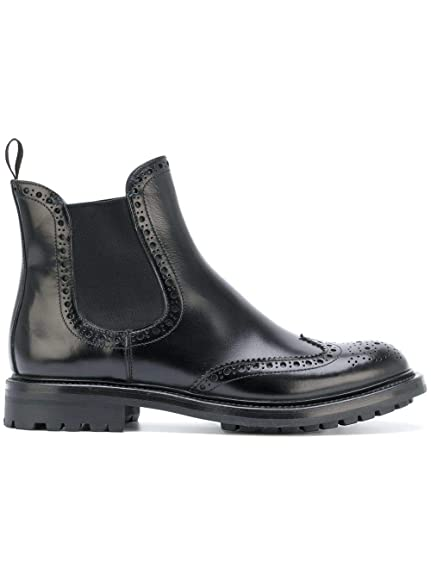 dfccd9c8aae1 Church s Women s Dt00079snf0aab Black Leather Ankle Boots  Amazon.co ...