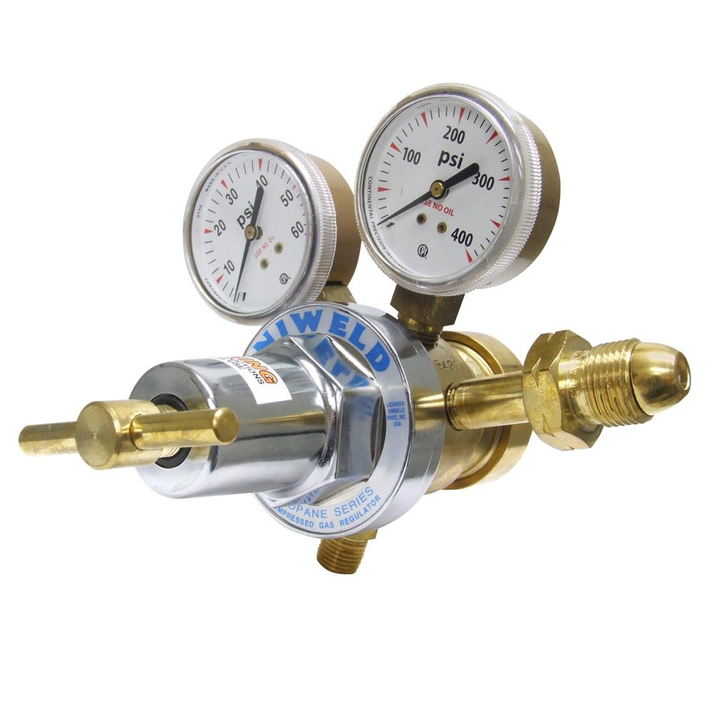 Uniweld RHT8012 Medium Heavy Duty Two Stage LPG All Fuel Gas Regulator with CGA510 Inlet