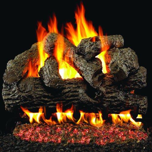 Peterson Real Fyre 18-inch Royal English Oak Log Set With Vented G4 Burner