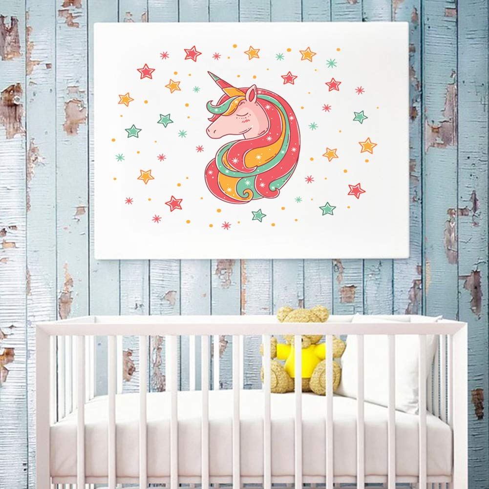 Unicorn Wall Stickers for Girls Bedroom Wall Decals Nursery Room Wall Decor  Lovely Unicorn Gifts for Girls