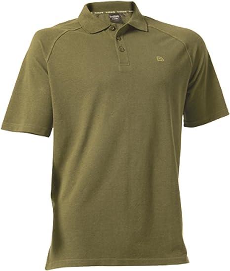 Camisa de Polo en color verde oliva - grande por Trakker: Amazon.es: Deportes y aire libre