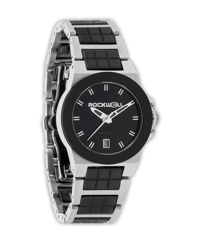 Rockwell Time Women's Katelynn Watch, Silver/Black Ceramic