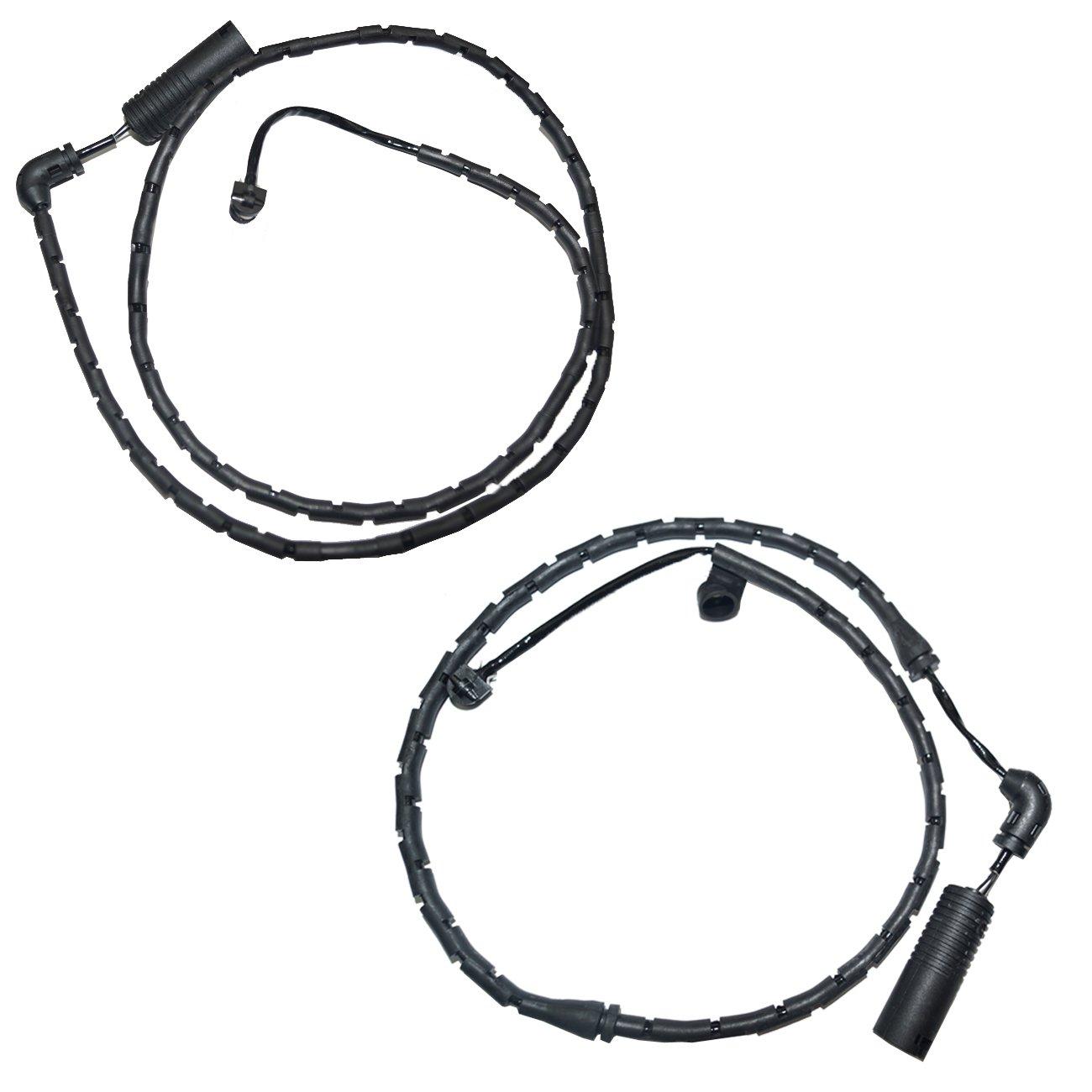 Bapmic Front 34353411756 + 34353411757 Rear Brake Pad Wear Sensor Kit for BMW E83 X3 2004-2010