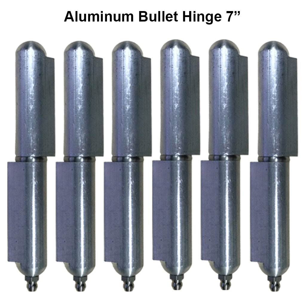 Lot 3 Aluminum 7'' driveway gate hinges heavy duty Stainless Steel Bushing & pin