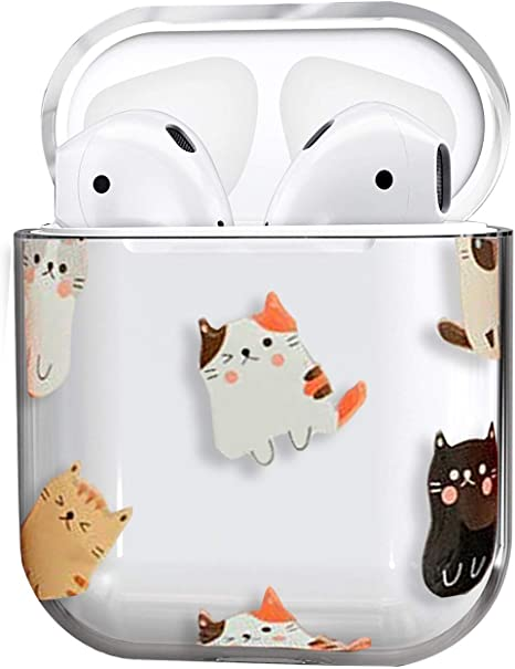 Lovely Puppy Clear Case Cover for Airpods Cute Airpods Cover with Girls Kids Teens Cartoon Animal Smooth PC Shockproof No Dust Cover Case for Apple Airpods Charging Case 2 /&1