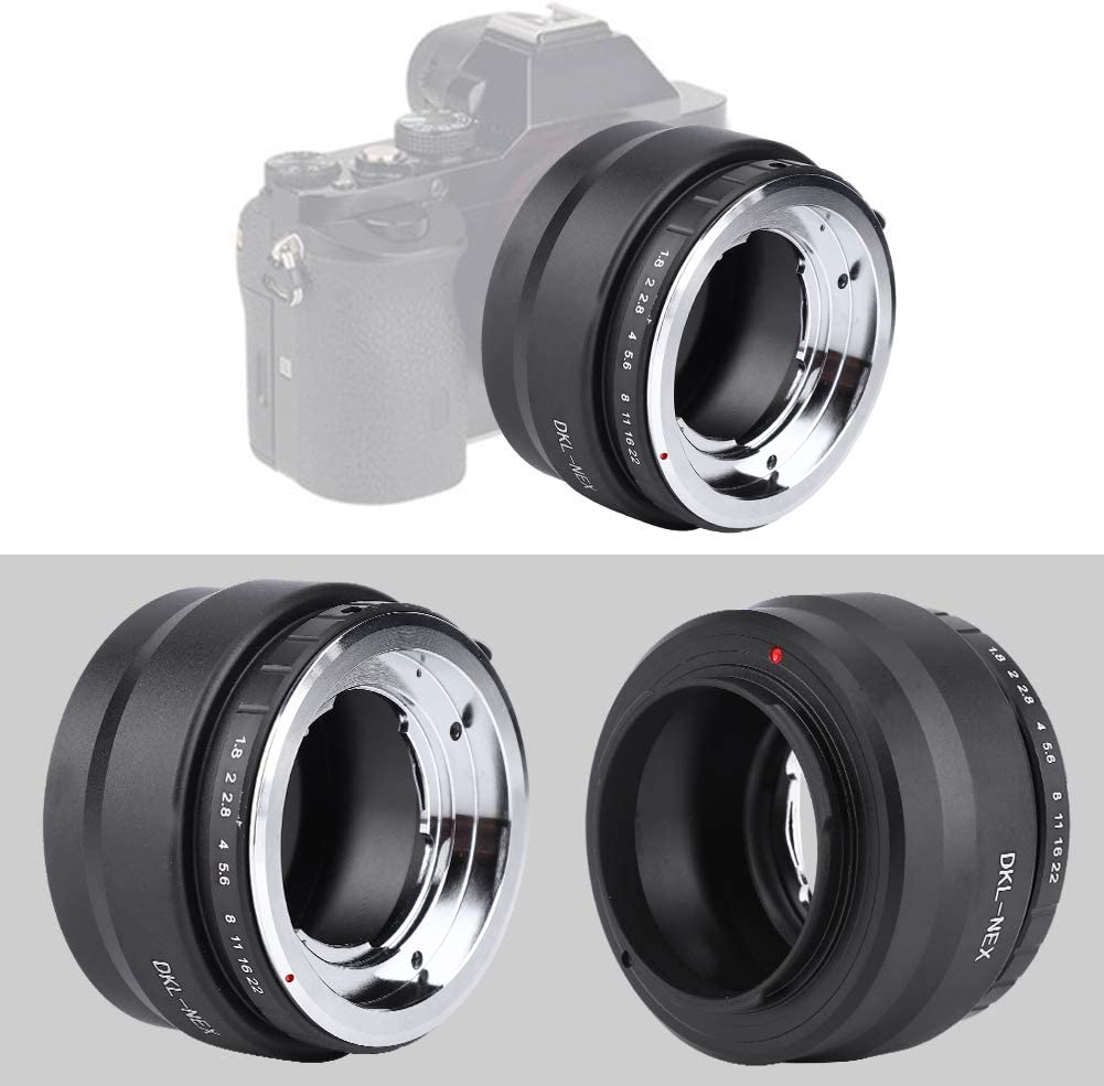 Bewinner Lens Adapters,Black Aluminium Alloy Lens Adapter Ring for Mount Camera Lens for NEX Mount Camera,Compact Size and Easy to Carry
