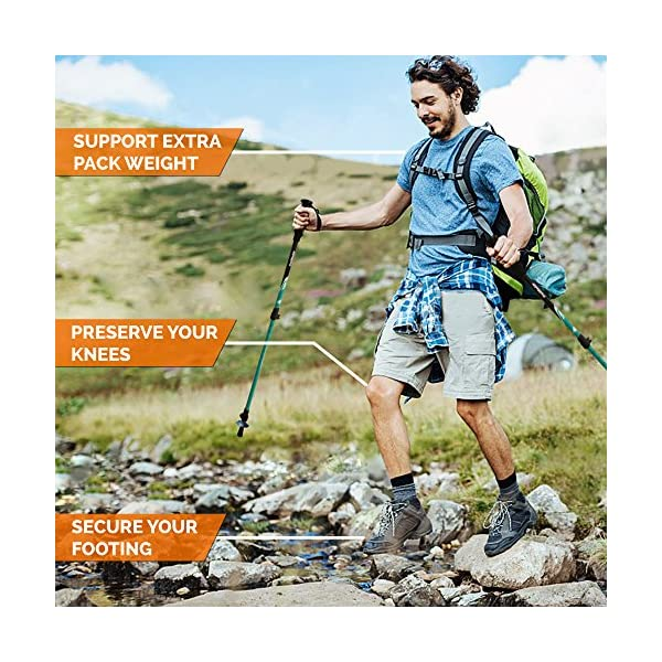 2-pc Pack Adjustable Hiking or Walking Sticks Outdoor Sports Walking & Trekking Sticks TrailBuddy Trekking Poles