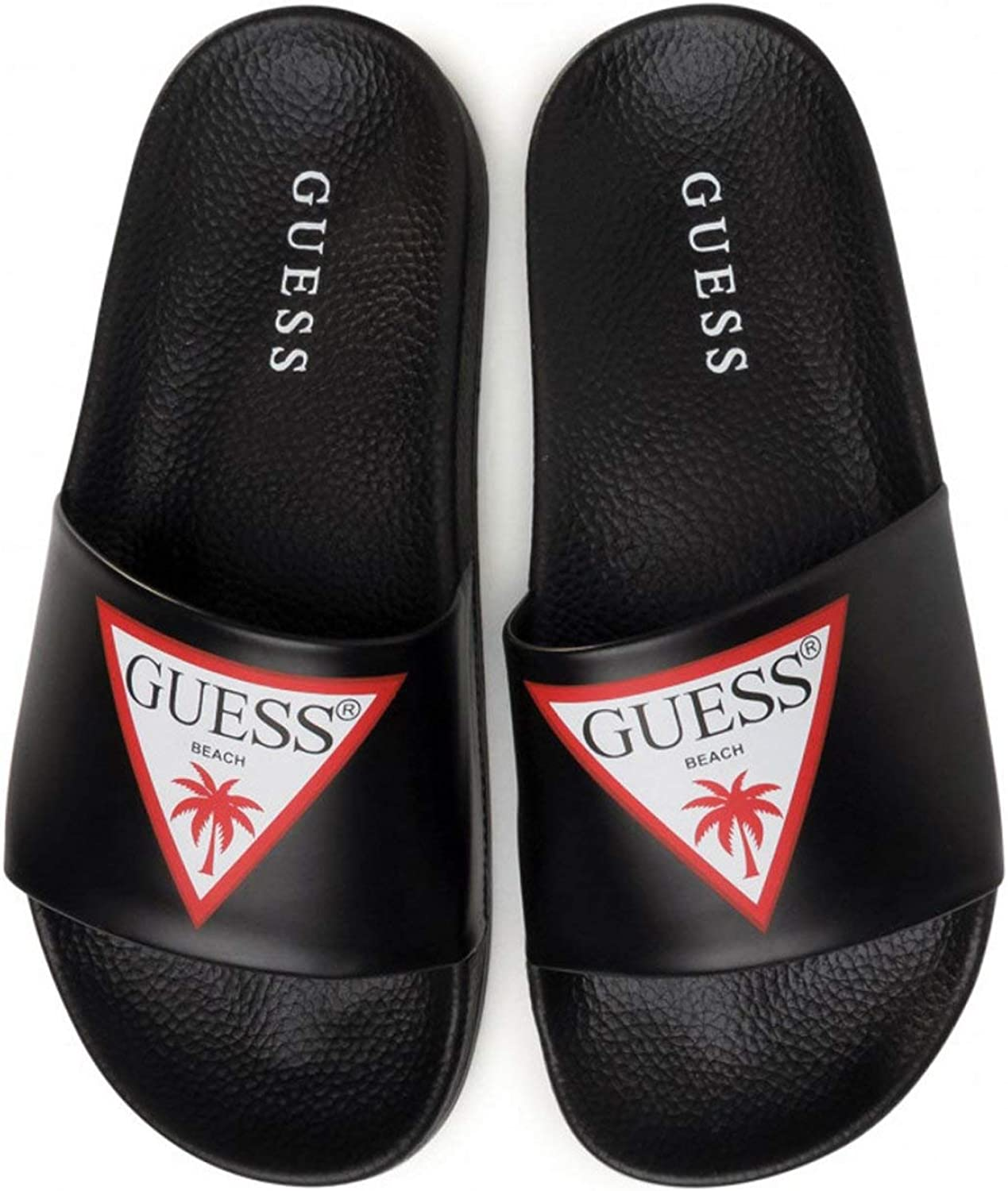 Guess Mules PVC Logo Triangle Jeans