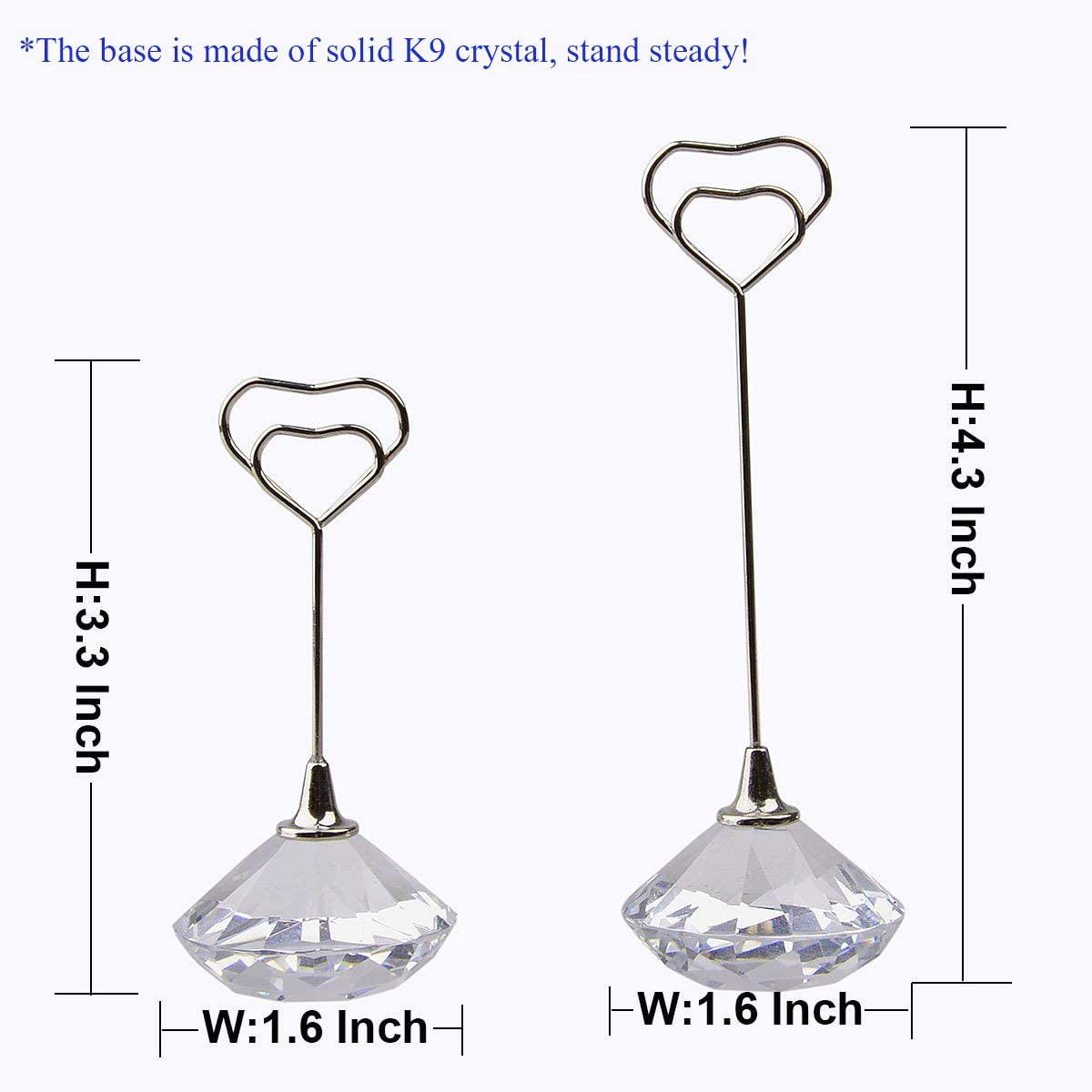 1pc 3.3 inch Clear LONGWIN Place Card Holder Wedding Table Number Holders Desk Name Memo Menu Clip