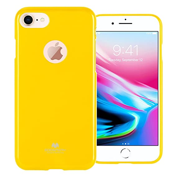 uk availability b0157 08375 GOOSPERY Marlang Marlang iPhone 8 Case - Yellow, Free Screen Protector  [Slim Fit] TPU Case [Flexible] Pearl Jelly [Protection] Bumper Cover for  Apple ...