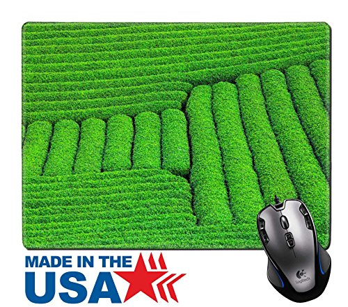 "Moc Natural (MSD Natural Rubber Mouse Pad/Mat with Stitched Edges 9.8"" x 7.9"" Beautiful fresh green tea plantation in Moc Chau dicstric Son La province Vietnam IMAGE 30376855)"