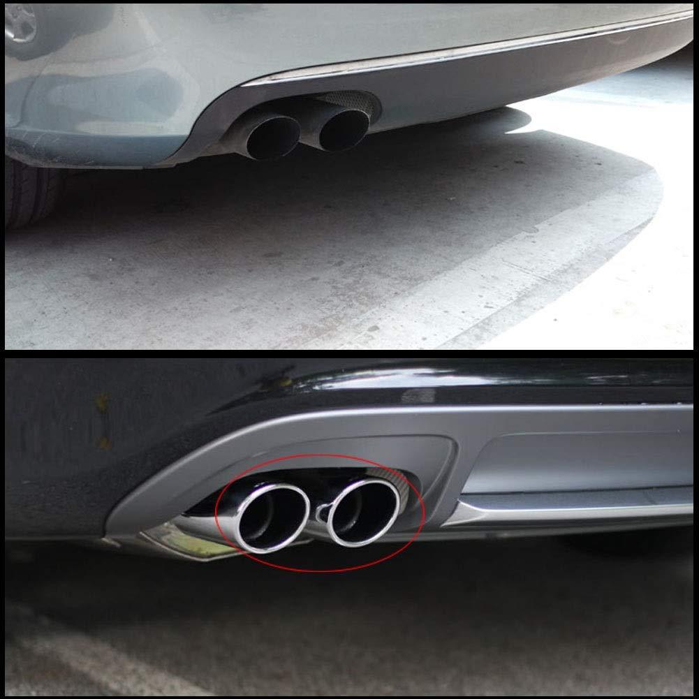 Tubo de escape de escape-1 par de acero inoxidable Silenciador de escape Tubo de escape Punta de escape Tubo de escape para Audi A4 B8 2007-2014