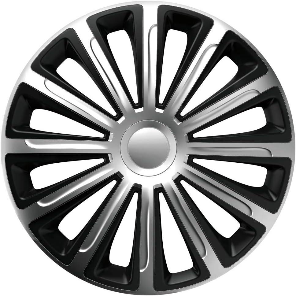 Cm Design Radkappen 16 Zoll Trend Silber Schwarz Radblenden Radzierblenden Auto