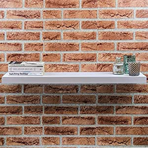 Harbour Housewares Pack of 3 Floating Wooden Wall Shelves 80cm – White