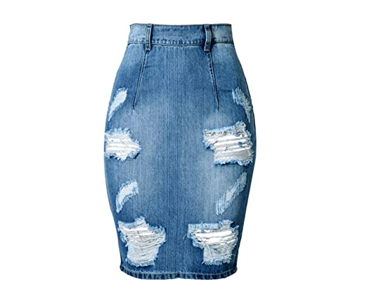 Deawecall Falda lápiz Mujer Corto Cintura Alta Rasgada Mini Falda ...