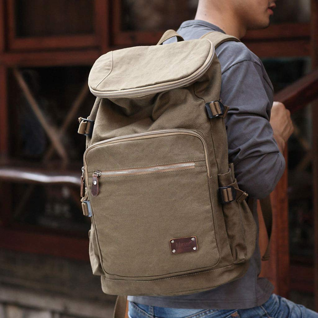 Multifunctional Outdoor Travel Bag Large Capacity Backpack Male Travel Backpack Sports Canvas Bag YnagMi Backpack Color : Military Color