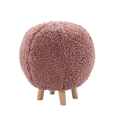Amazon.com: Taburete de madera maciza con forma de bola ...