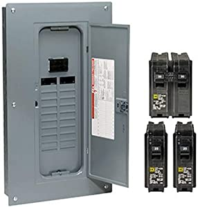 SQUARE D BY SCHNEIDER ELECTRIC HOM2040M100PCVP Main Load Center Value Pack Circuit Breaker, 100 Amp