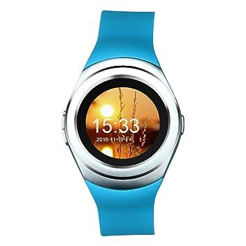 Kivors Bluetooth Smartwatch Reloj Inteligente, Classic Ronda Pantalla Táctil Smartphone con Tarjeta SIM Podómetro de Seguimiento de Actividad Monitor ...