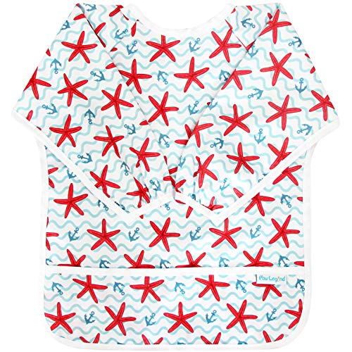 Legend Of The Starfish (Paw Legend Long Sleeved Baby Bib - Waterproof Bib for Babies - Toddler bib (6-24 Months) with Pocket,)