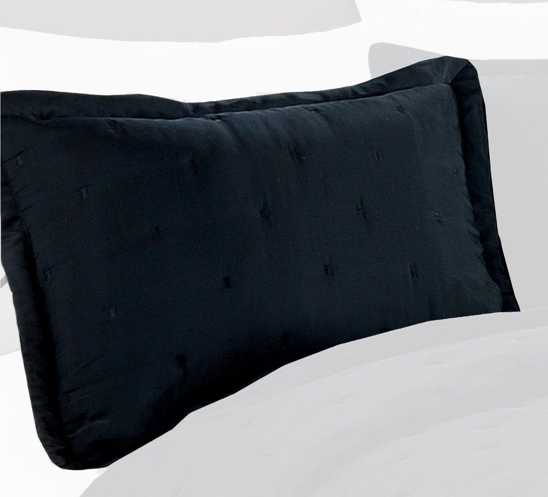 Black Standard Nanette Lepore Villa Tack 21 by 27-Inch Sham