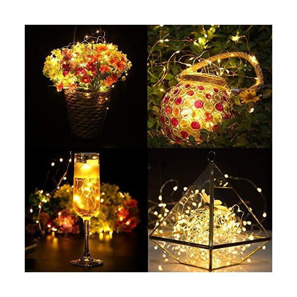 【10 pezzi】Luci Stringa LED - 20 LED 2M Mini Lampada a fili di rame Bianco Caldo, Lucine Decorative a Batteria Luci d'atmosfera Bottiglia di vino, Interni e Esterni per Festa, Natalizie, Halloween 4 spesavip