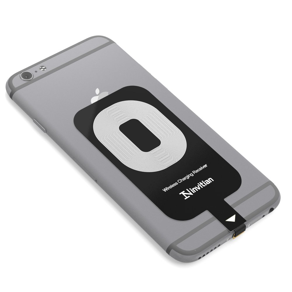 iPhone Wireless Charging Receiver for iPhone - Improved Add-On Receiver for Wireless Charging of iPhone