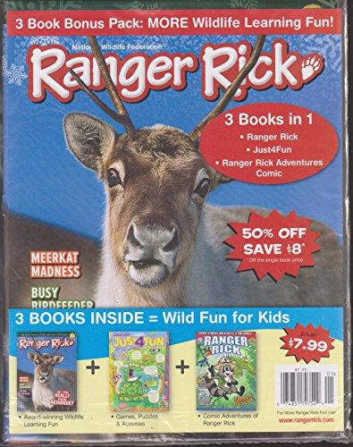 Ranger Rick Magazine Multipack December/January 2018 (3 Books Included- Ranger Rick, Just 4 Fun & Adventures Comic) (Ranger Rick Magazine)