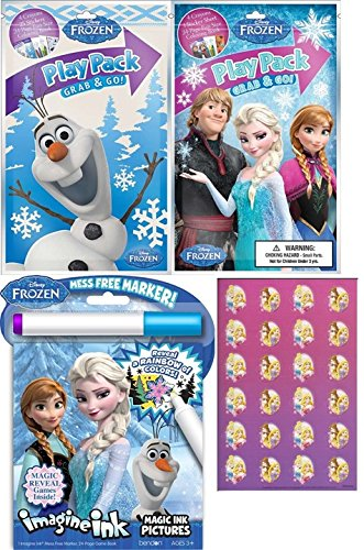 frozen imagine ink book two different grab n go play packs and stickers bundle set - Imagine Ink Coloring Book
