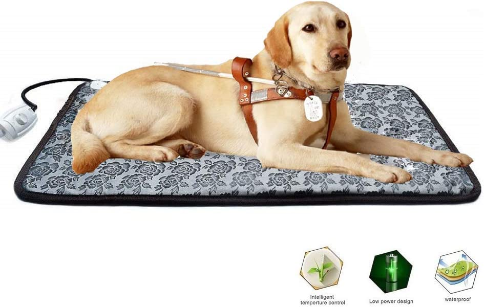 "Fine Most Pet Heating Pad for Large Dogs House Outdoor Indoor Bed, Pet Warm Pad, Pet Bed Automatic Thermostat, with Chewy Steel Wire, Larger Size (34"" 21"")"